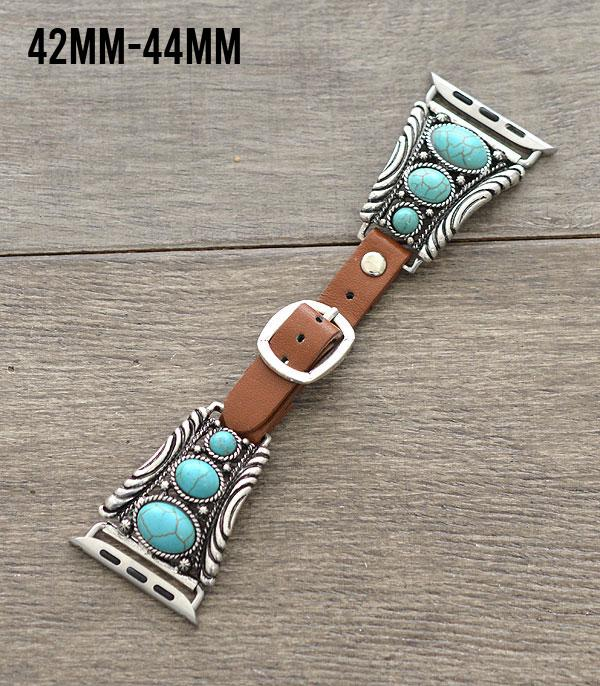 New Arrival :: Wholesale Turquoise Western Apple Watch Band