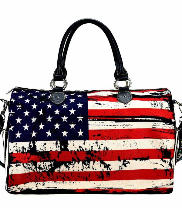New Arrival :: Wholesale Montana West American Flag Canvas Bag