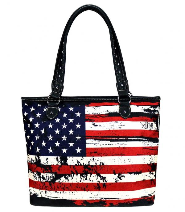 New Arrival :: Wholesale Montana West Canvas American Flag Tote
