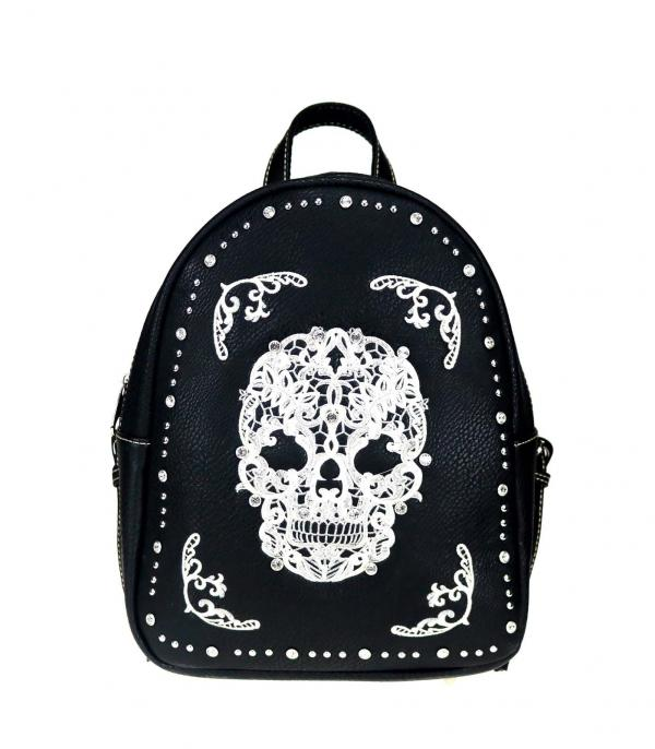 New Arrival :: Wholesale Sugar Skull Embroidered Backpack