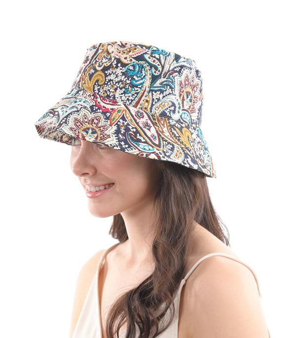 New Arrival :: Wholesale Paisley Print Cotton Bucket Hat