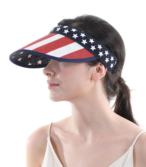 New Arrival :: Wholesale American Flag Sun Visor