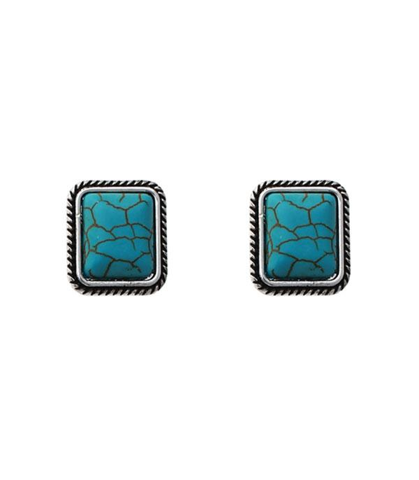 New Arrival :: Wholesale Turquoise Stud Earrings