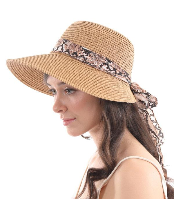 New Arrival :: Wholesale Python Trim Summer Beach Hat