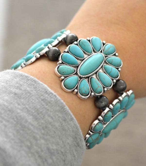 <font color=Turquoise>TURQUOISE JEWELRY</font> :: Wholesale Turquoise Western Stone Bracelet