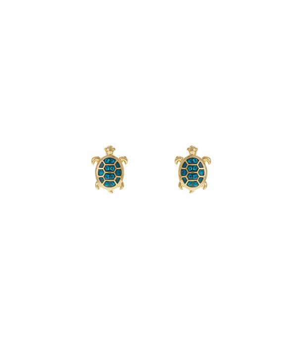 New Arrival :: Wholesale Rhinestone Turtle Post Earrings