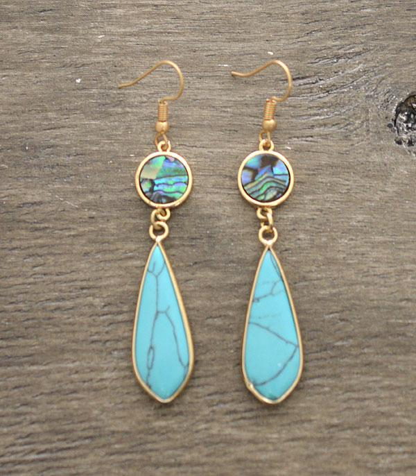 New Arrival :: Wholesale Semiprecious Stone Abalone Earrings