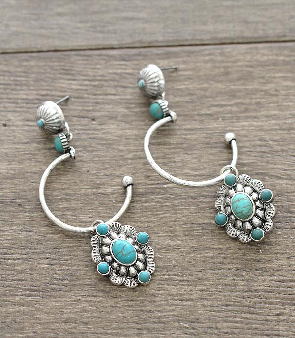 New Arrival :: Wholesale Western Style Concho Dangle Earrings