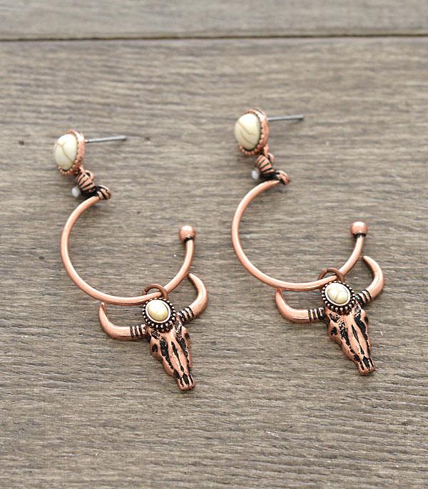 New Arrival :: Wholesale Western Style Longhorn Dangle Earrings