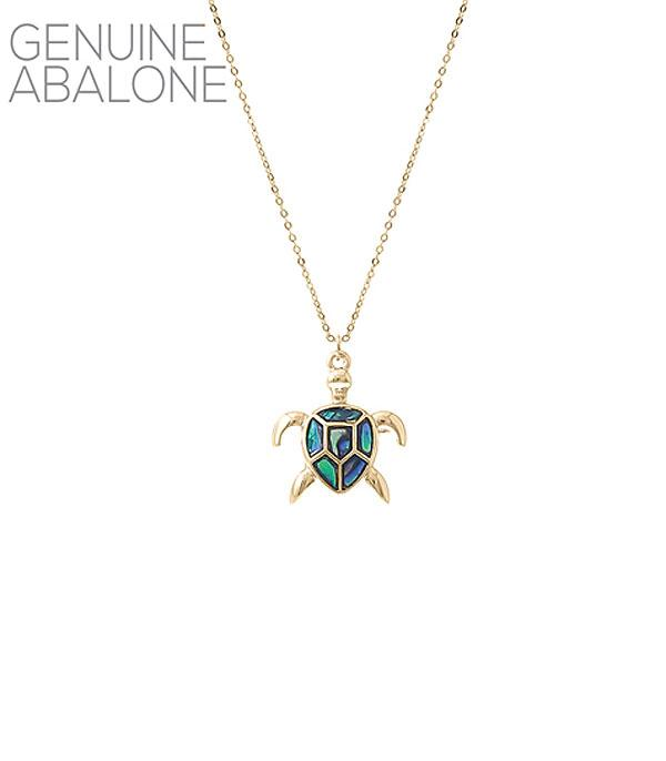 New Arrival :: Wholesale Abalone Turtle Pendant Necklace