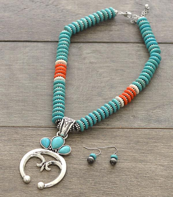 New Arrival :: Wholesale Squash Blossom Turquoise Necklace