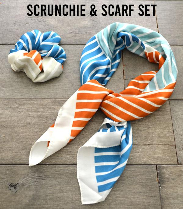 New Arrival :: Wholesale Scarf Scrunchie Set