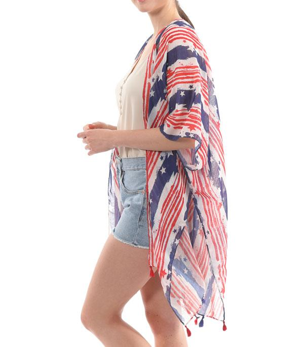 New Arrival :: Wholesale Star Stripe Kimono