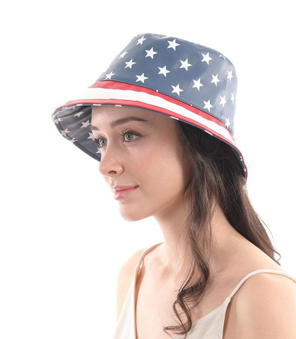 New Arrival :: Wholesale American Flag PU Bucket Hat