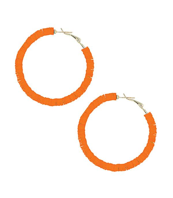 New Arrival :: Wholesale Rubber Disc Solid Hoop Earrings