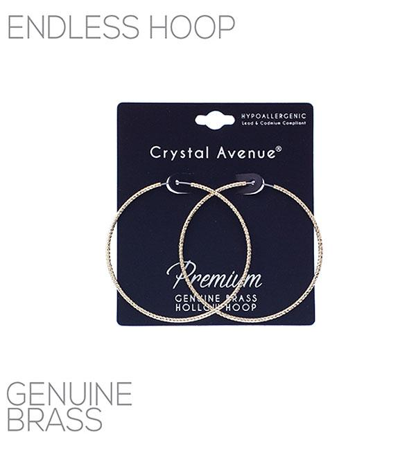 New Arrival :: Wholesale Textured Endless Hoop Earrings