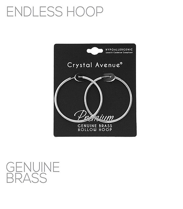 New Arrival :: Wholesale Hollow Endless Hoop Earrings