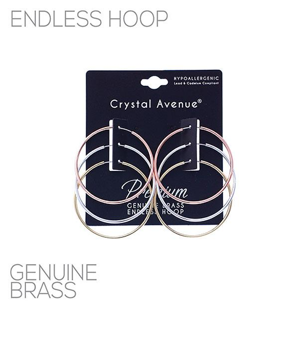 New Arrival :: Wholesale 3PC Set Endless Hoop Earrings