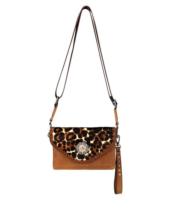New Arrival :: Wholesale Montana West Leopard Clutch Crossbody