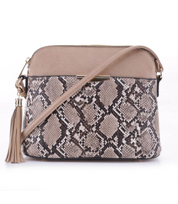 New Arrival :: Wholesale Python Faux Leather Crossbody Bag