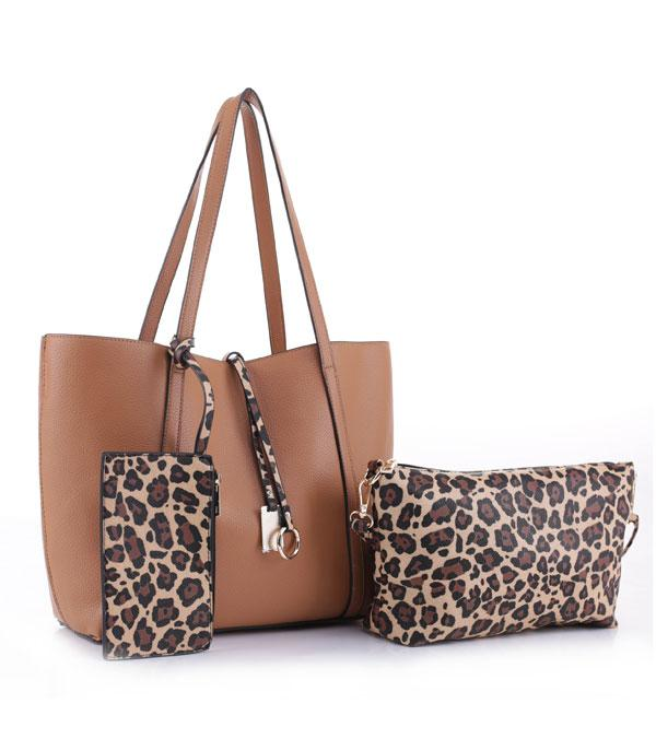 New Arrival :: Wholesale 3PC Set Leopard Tote