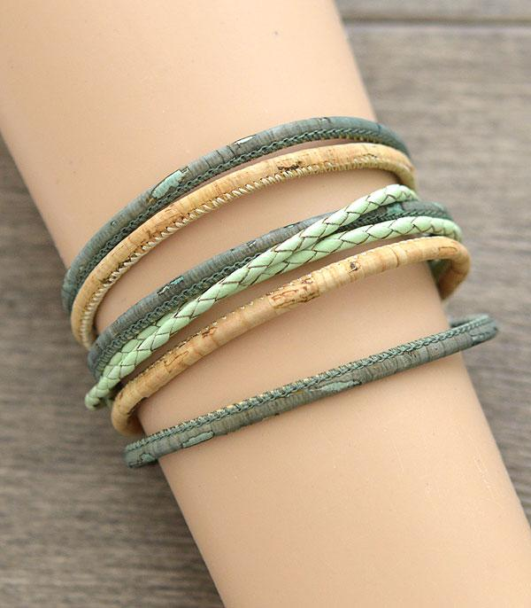 New Arrival :: Wholesale Cork Multi Strand Magnetic Bracelet