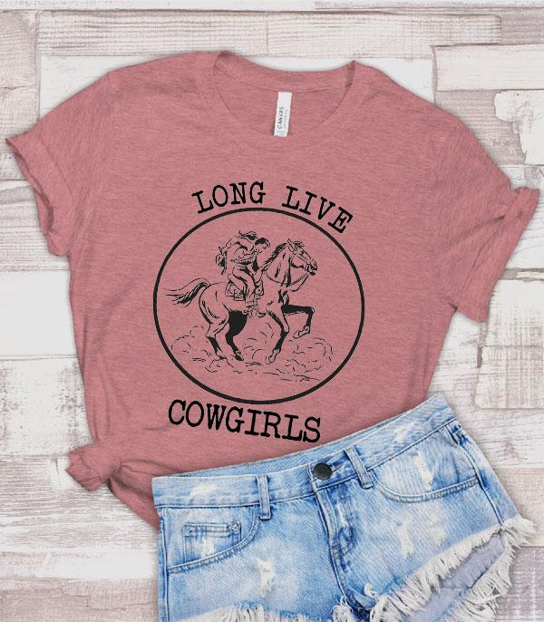New Arrival :: Wholesale Long Live Cowgirls Western Graphic Tee