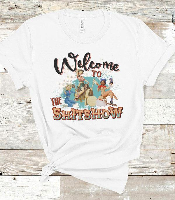 New Arrival :: Wholesale Western Welcome To Shitshow T-Shirt