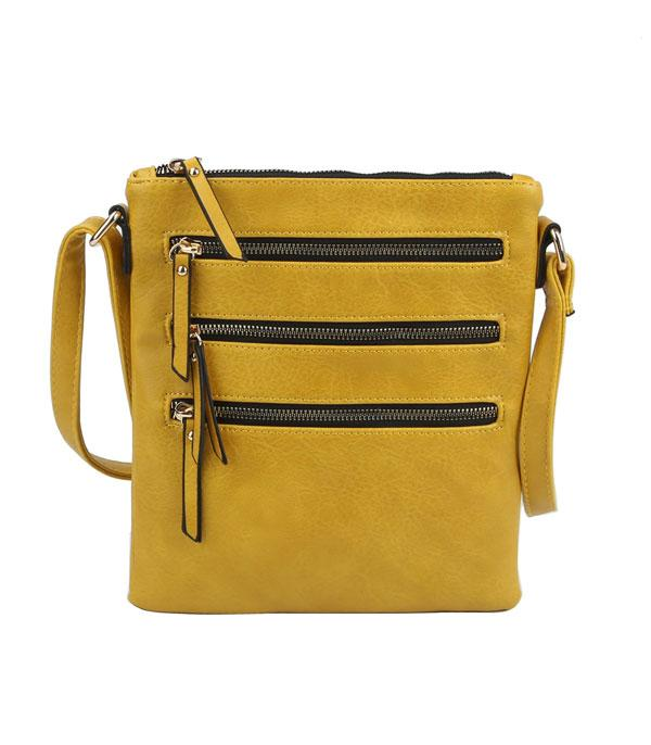 New Arrival :: Wholesale Multi Zip Pocket Crossbody Bag