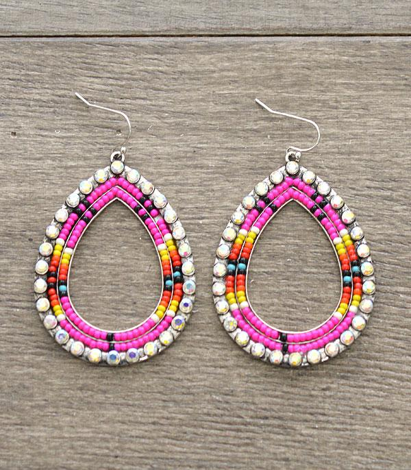 New Arrival :: Wholesale Seed Beaded Teardrop Earrings