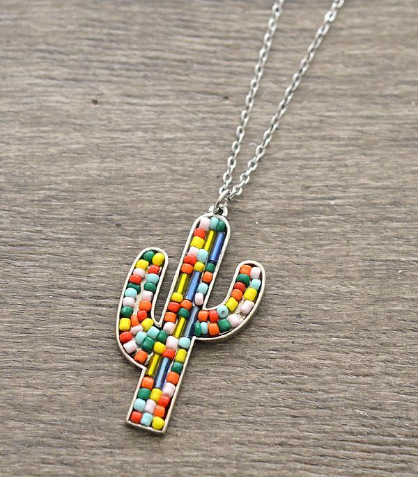 New Arrival :: Wholesale Cactus Seed Bead Necklace