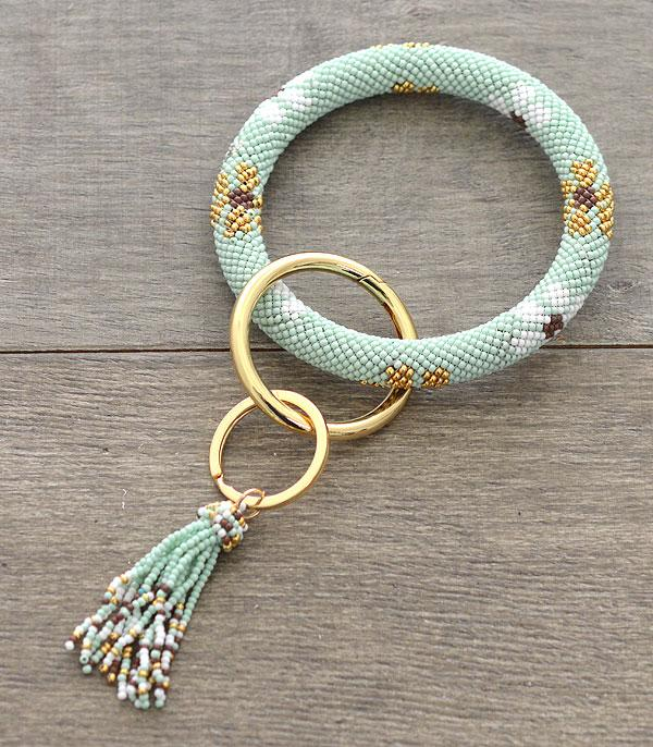 New Arrival :: Wholesale Seed Bead Bangle Keychain