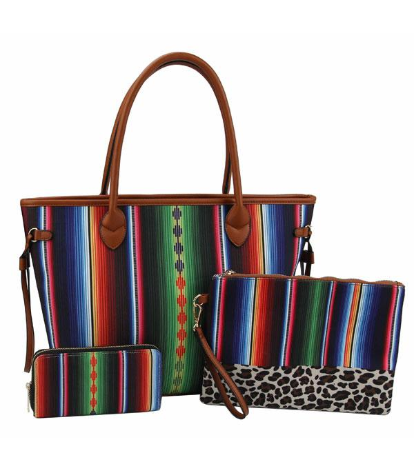 New Arrival :: Wholesale Serape Leopard 3 In 1 Set Bag