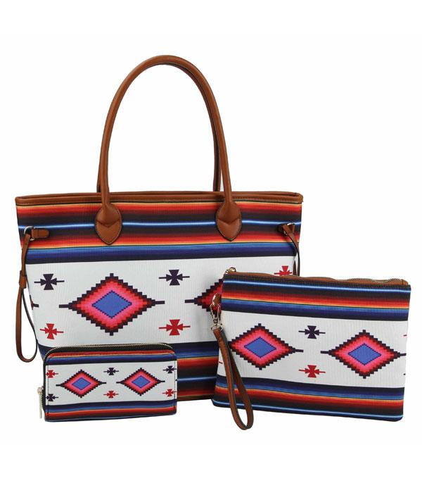 New Arrival :: Wholesale Aztec Print 3 IN 1 Set Bag