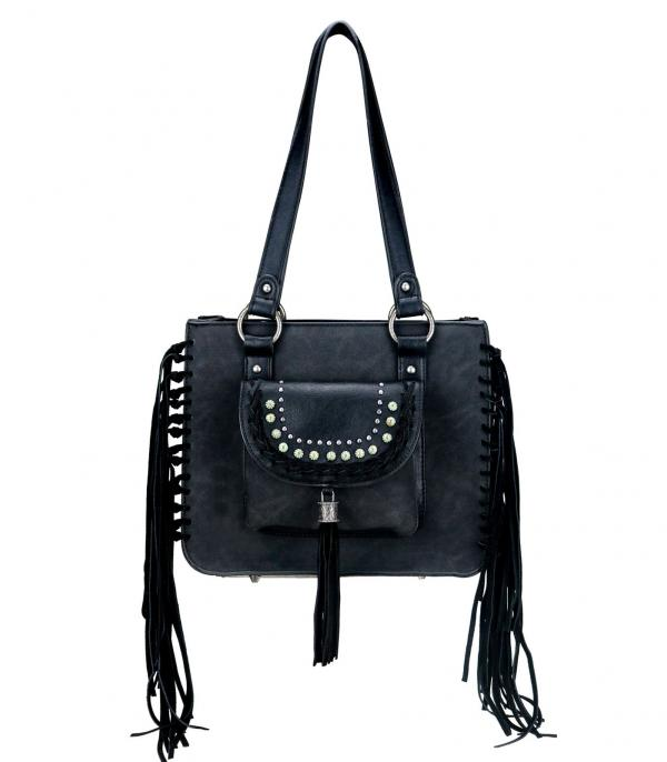 New Arrival :: Wholesale Montana West Fringed Tote Bag