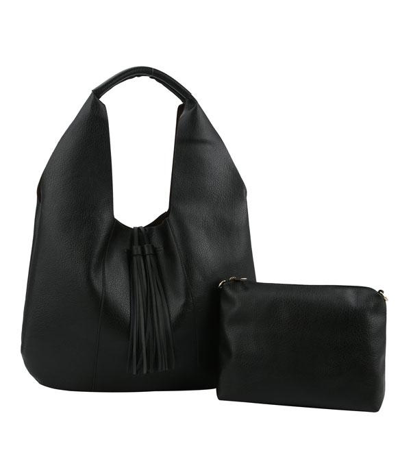New Arrival :: Wholesale 2 In 1 Faux Leather Hobo Bag