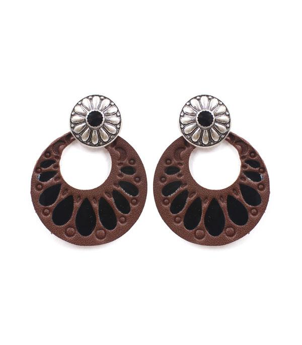 New Arrival :: Wholesale Western Concho Circle Earrings