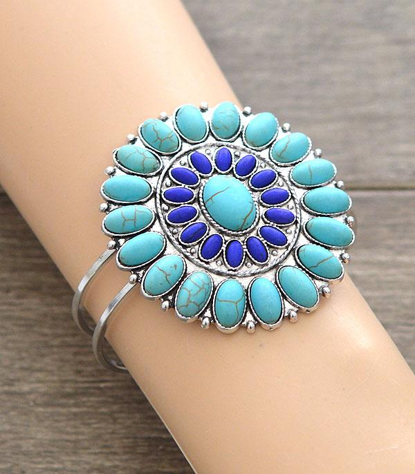 New Arrival :: Wholesale Turquoise Western Statement Bracelet