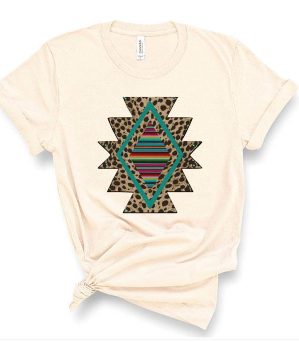 New Arrival :: Wholesale Leopard Serape  Vintage Graphic T-Shir