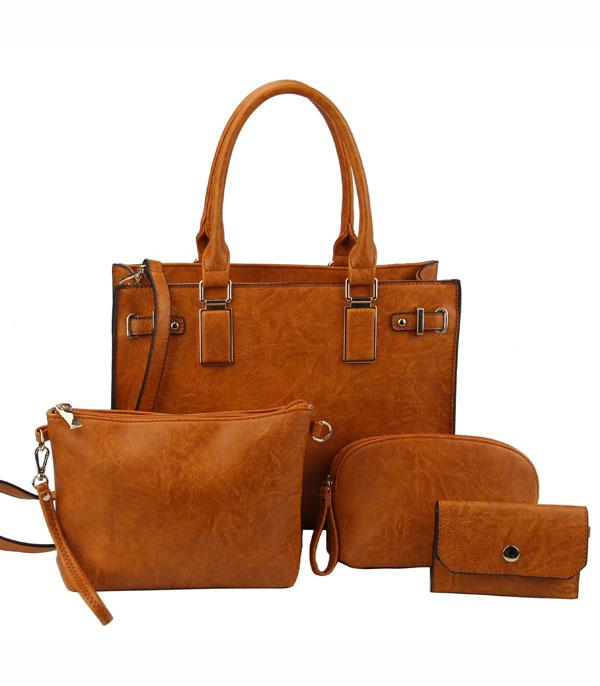 New Arrival :: Wholesale 4 In 1 Classic Satchel Set Bag