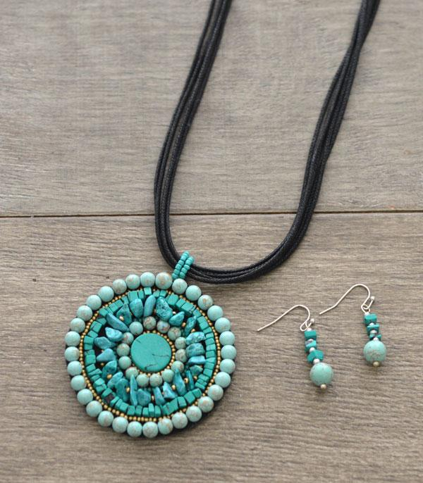 New Arrival :: Wholesale Round Clay Bead Pendant Necklace