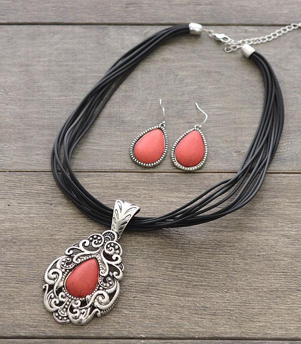 New Arrival :: Wholesale Western Semi Stone Necklace Set