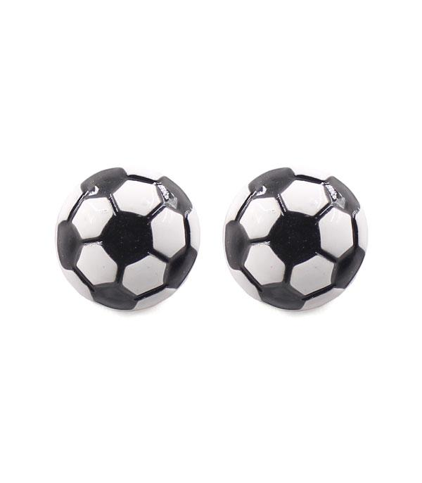 New Arrival :: Wholesale Soccerball Stud Earrings