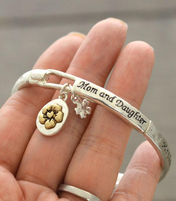New Arrival :: Wholesale Mom Daughter Message Charm Bracelet