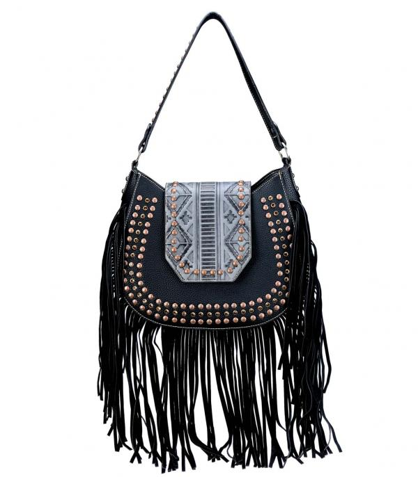 New Arrival :: Wholesale Trinity Ranch Fringe Hobo Bag