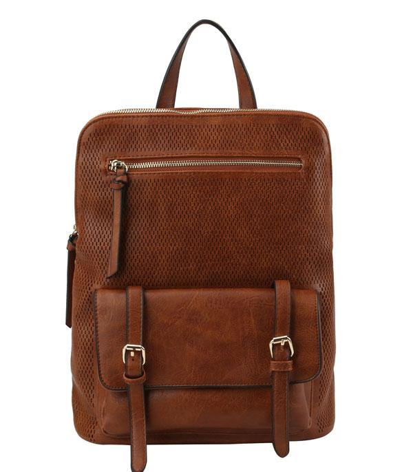 New Arrival :: Wholesale Faux Leather Convertible Backpack