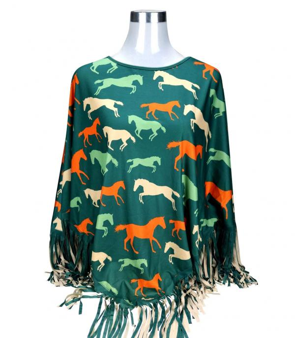 New Arrival :: Wholesale Montana West Western Fringe Poncho