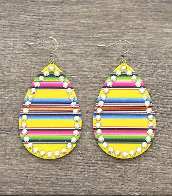 New Arrival :: Wholesale Serape Tear Drop Earrings