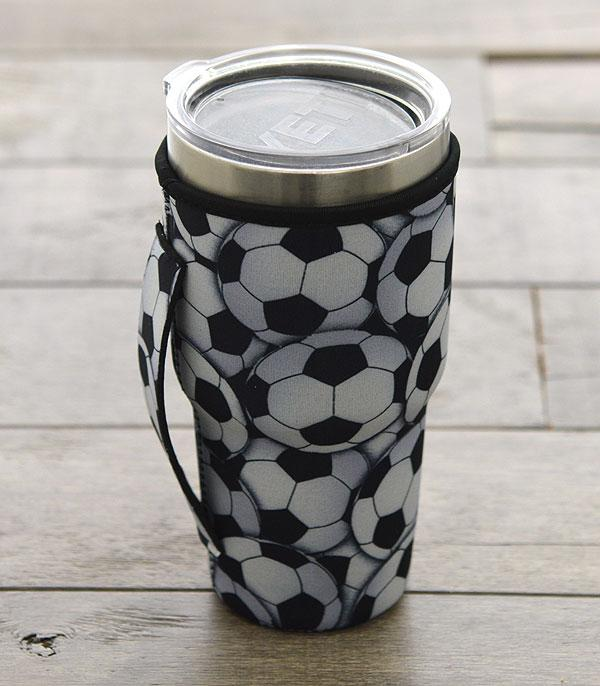 New Arrival :: Wholesale Soccerball Print Tumbler Drink Sleeve