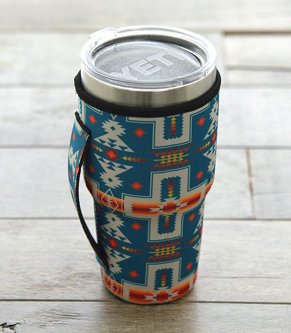 New Arrival :: Wholesale Navajo Print Large Tumbler Drink Sleeve